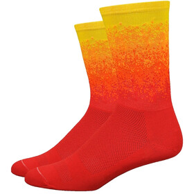 "DeFeet Aireator 6"" Socks ombre sunrise (scarlet/orange/pumpkin/bright gold)"